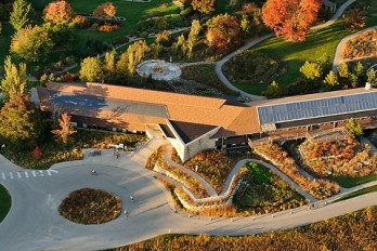Aerial of visitor center