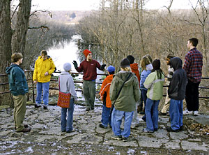 Tour guides and educators teach visitors of all ages about ecological restoration and living in harmony with the land.