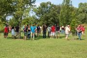 Arborists gather in Longenecker Horticultural Gardens. Photo: Bill Reichenbach