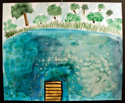 Teal Pond, by Annabelle