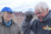 Joy Zedler and Cal DeWitt discuss the past, present and future at Waubesa Wetland, south of Madison. Photo: David Tenenbaum