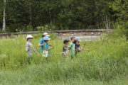 Children on a GPS excursion at Earth Focus Day Camp