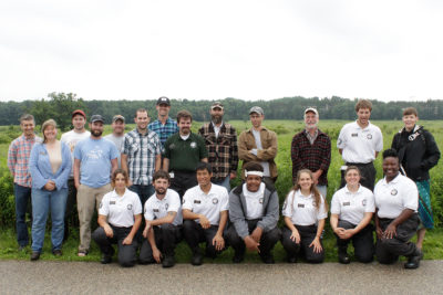 AmeriCorps Cedar 2 team with Arboretum staff