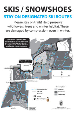 Ski/snowshoe trail map