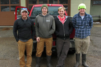 Land care staff: Chris Kregel, Lance Rudy, Isaac Bailey, Tom Bresnahan