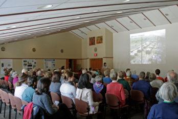 Researcher presenting at Arboretum Research Symposium