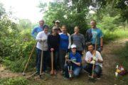 Badger Volunteers in Curtis Prairie