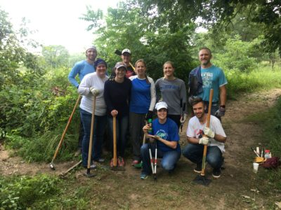 Badger Volunteers in Curtis Prairie