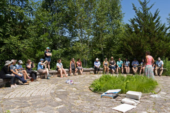 North American Monarch Institute participants at an outdoor workshop