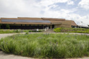 Visitor Center and native plant gardens in July