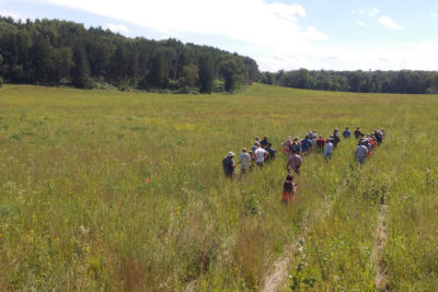 Attendees of the workshop visit the Aldo Leopold Foundation