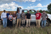 Field staff and student workers visiting Buena Vista Wildlife Area