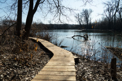 New boardwalk at Ho-Nee-Um Pond