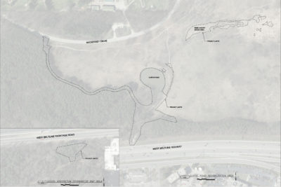 Map of the Curtis Pond project area