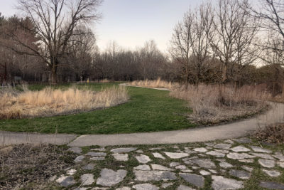 The Wisconsin Native Plant Garden in April