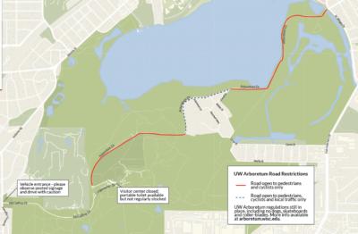 Map of Arboretum Drive closure