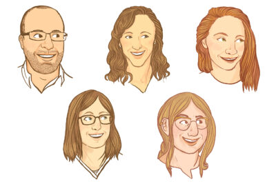 Portraits of 2019 Arboretum Fellows by Liz Anna Kozik