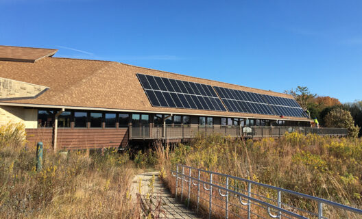 New solar panels at Visitor Center