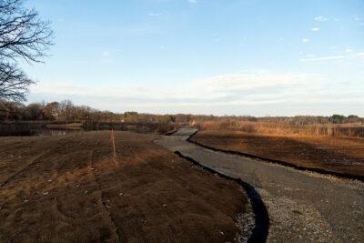 Trail segment along east edge of Curtis Pond
