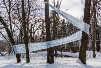 Art installation in Longenecker Horticultural Gardens by Derick Wycherly
