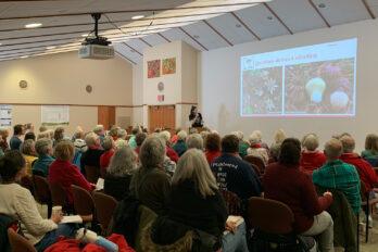 Alden Dirks presents at the Arboretum Research Symposium