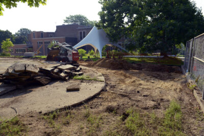 Rain garden site at Wingra School