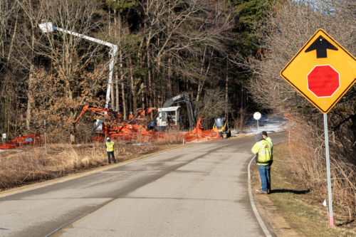 Tree removal for service lane
