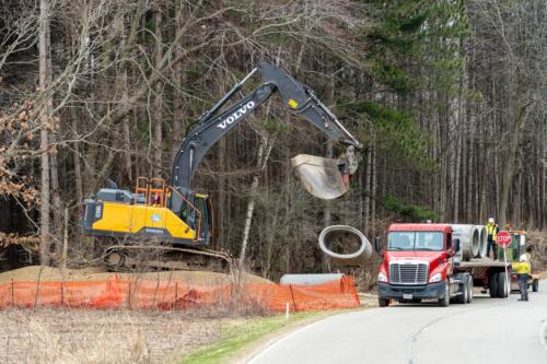 Concrete pipe delivery